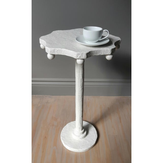 Contemporary Modern Artisan Small Accent Table White For Sale - Image 3 of 5