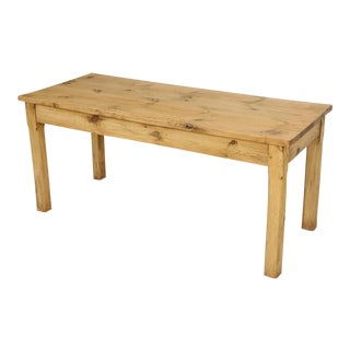 French Pine Farm Table in a Beeswax Finish For Sale