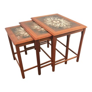 1960s Vintage Danish Teak Nesting Tables - Set of 3