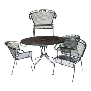 Russell Woodard Mesh Dining Patio Set