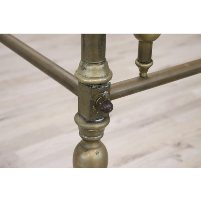 20th Century Italian All Brass Double Bed For Sale - Image 6 of 13