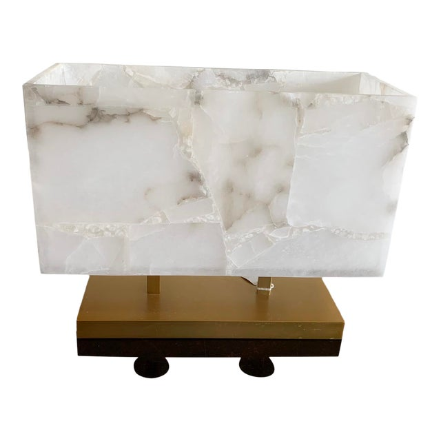 Jamie Young Alabaster Ghost Horizon Lamp For Sale