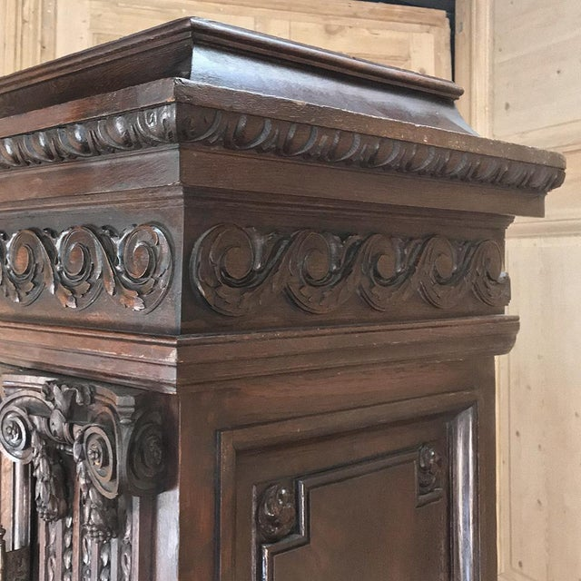Wood 19th Century French Louis XVI Neoclassical Bookcase For Sale - Image 7 of 13