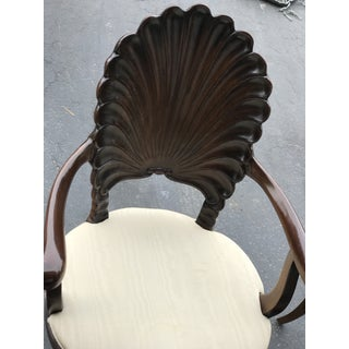 Four Italian Carved Wood Venetain Grotto Shell Arm Chairs Preview