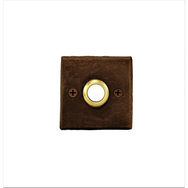 THIS PRODUCT HAS A 5 TO 6 WEEK LEAD TIME PLUS SHIPPING -- This particular doorbell is a classically simple, square bronze...