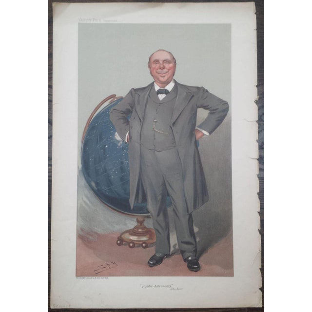 1905 Original Vanity Fair Scientist Print by Sir Robert Ball - Image 2 of 4