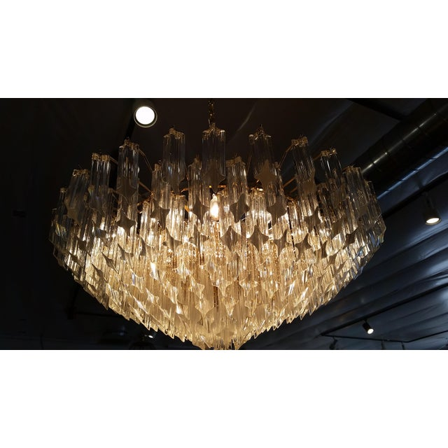 Paolo Venini for Naurelle Vintage Murano Chandelier - Image 4 of 5