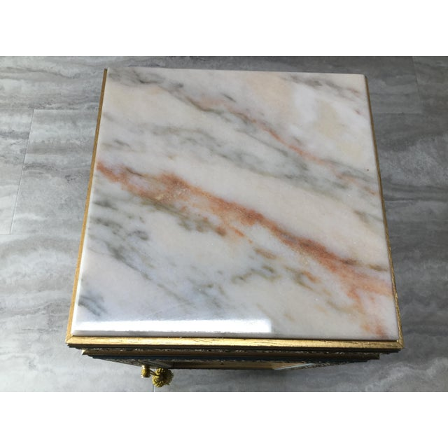 Italian Tabletop Display Case With Marble Top For Sale - Image 6 of 7