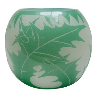 1930s Carder Steuben Acid Cutback Sea Holly Bowl For Sale