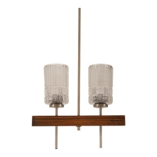Midcentury Danish Chandelier With Glass Shades For Sale