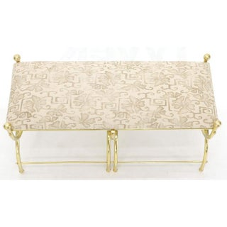 Solid Brass Frame Midcentury Window Bench New Upholstery Preview