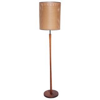 Gordon & Jane for Marshall Studios Martz Teak & Brass Five Socket Floor Lamp With Shade For Sale