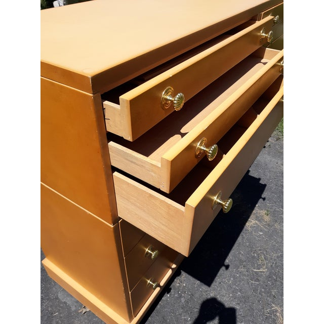 Wood 1940's C. G. Kimerly for Widdicomb 12 Drawer Chest For Sale - Image 7 of 13