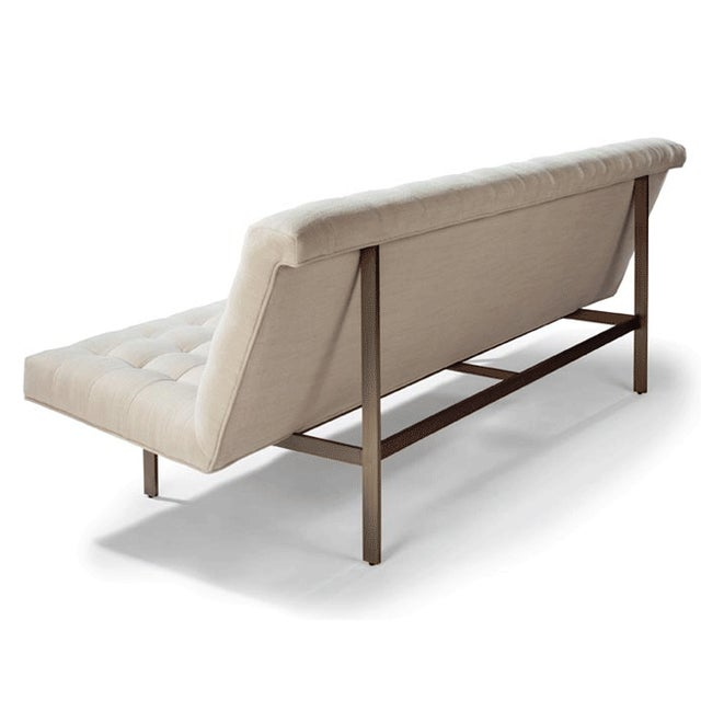 Modern Modern Brushed Bronze Base Armless Sofa For Sale - Image 3 of 7
