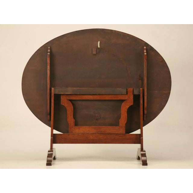 French Cherry Tilt-Top Wine Table Reproduction For Sale - Image 4 of 9