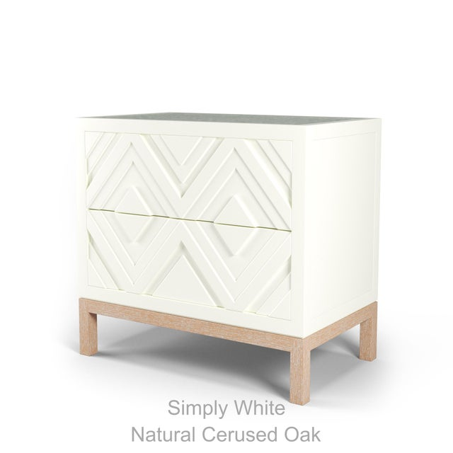 Not Yet Made - Made To Order Susana Side Table - Simply White, Natural Cerused Oak For Sale - Image 5 of 5