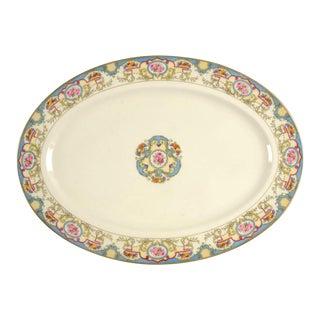"""1960s Morgan Belleck Azure 15"""" Oval Serving Platter For Sale"""