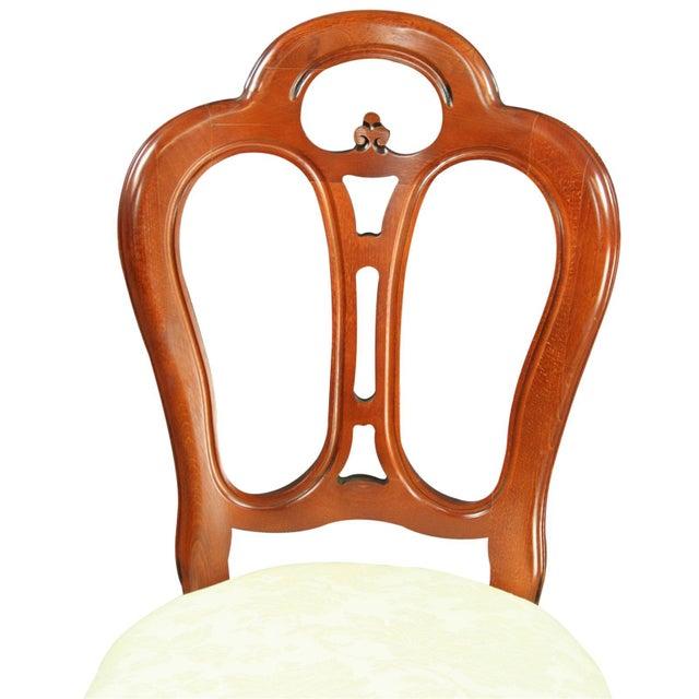 Rococo Italian Rococo-Style Mahogany Chair For Sale - Image 3 of 8