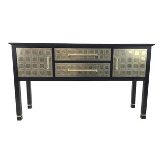 Currey & Co. Embossed Metal Foil Prototype Console Table For Sale