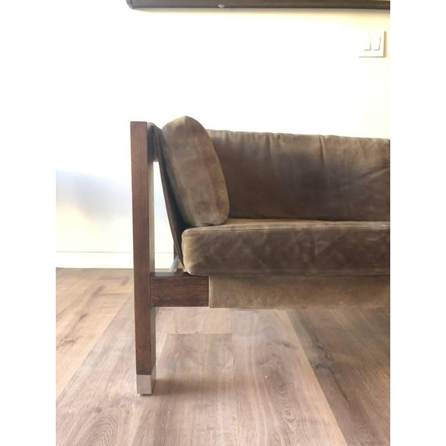 1970s 1970s Jack Cartwright Sling Loveseat in Original Suede Upholstery For Sale - Image 5 of 10