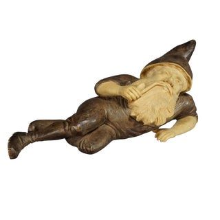 Wooden Carved Black Forest Dwarf, Brienz Ca. 1930 For Sale