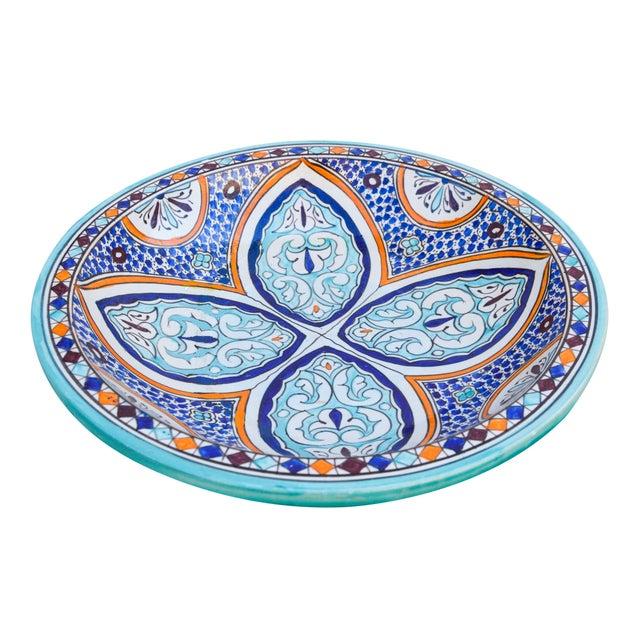 Andalusian Motif Ceramic Bowl For Sale - Image 9 of 9