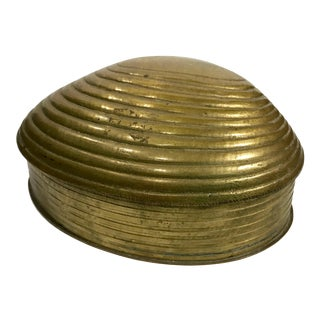 Clam Shell Formed Brass Box For Sale