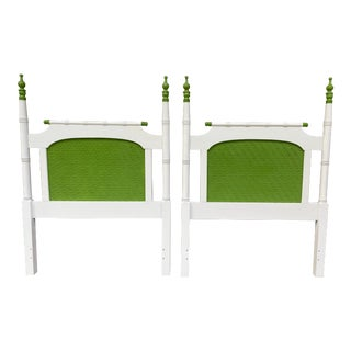 Vintage Faux Bamboo Twin Headboards - a Pair For Sale