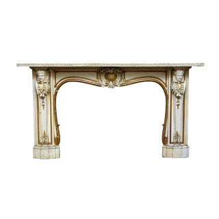 Carved Wooden Figural Mantel
