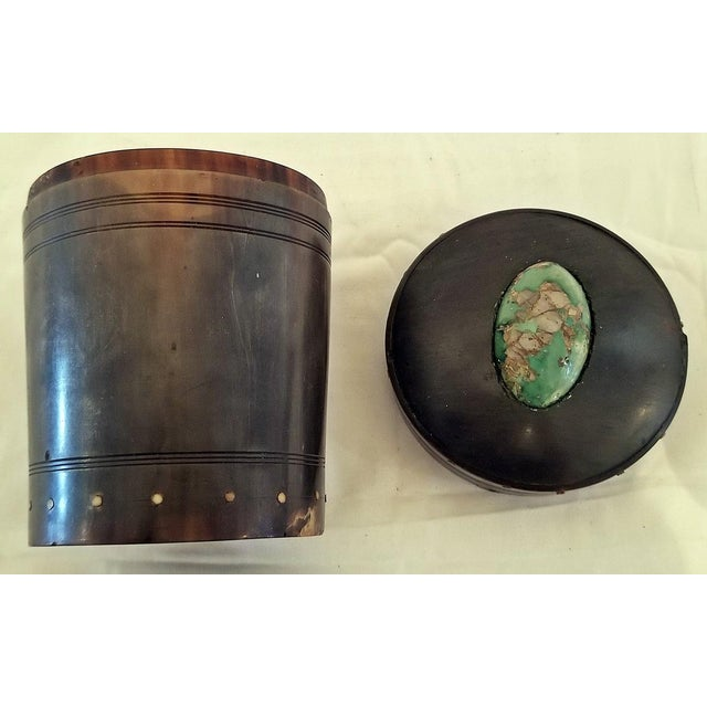 18c Scottish Horn and Polished Stone Tea Caddy For Sale In Dallas - Image 6 of 12