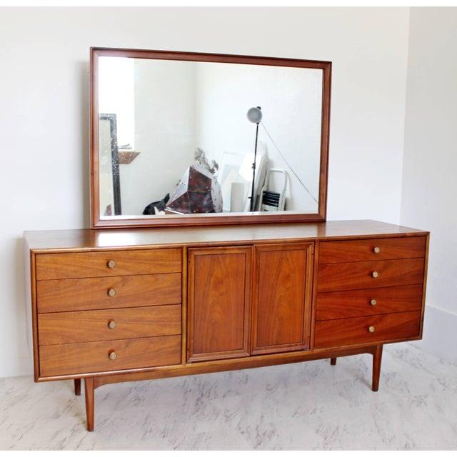 Brown 1960sMid-Century Modern Kipp Stewart for Drexel Declaration Walnut Dresser Credenza For Sale - Image 8 of 8