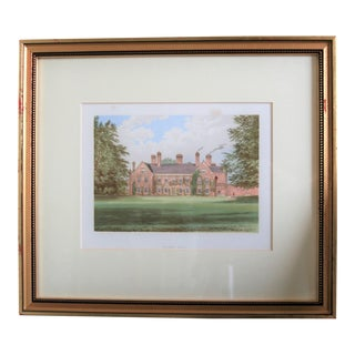 "1880 English Traditional Estate Print, ""Nether Hall"" For Sale"