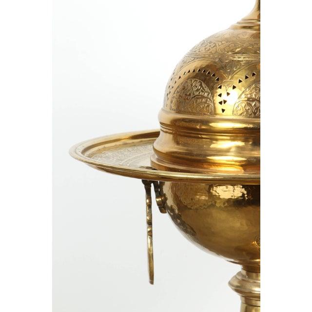 19th Century Turkish Moorish Brass Brasier For Sale - Image 4 of 10