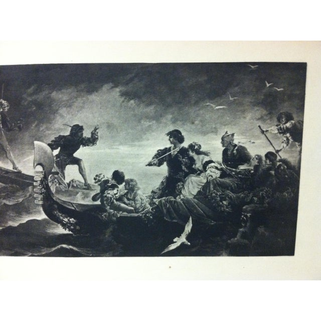 "English Vintage Print on Paper, ""On the Water"" -- Artist Unknown, Circa 1900 For Sale - Image 3 of 4"