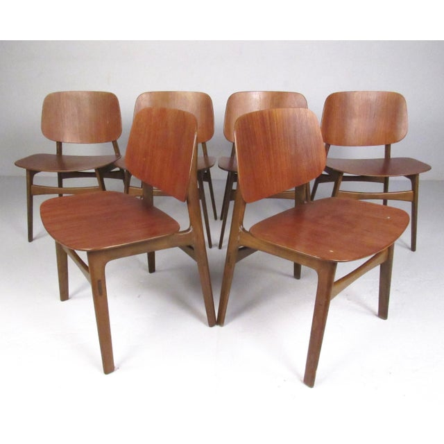 Mid-Century Børge Mogensen Dining Chairs, Model 155 For Sale - Image 11 of 11