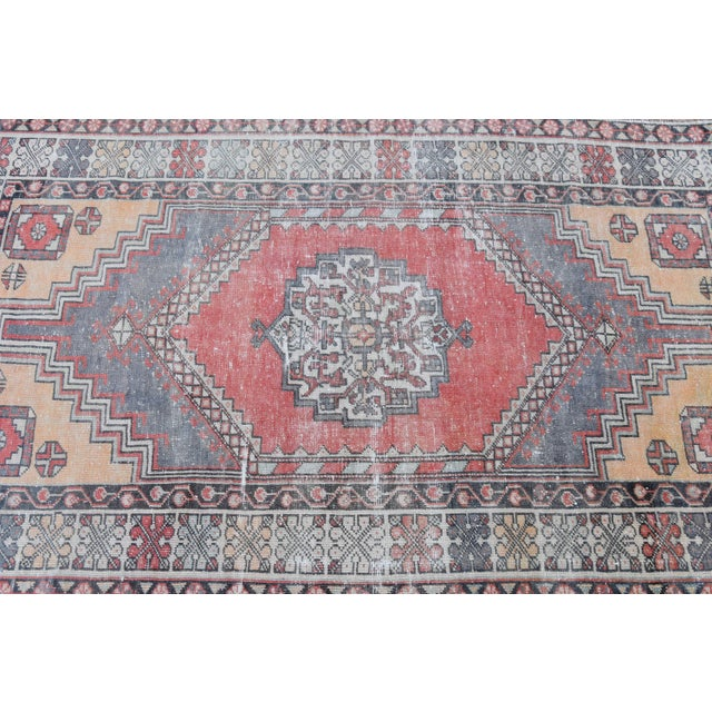 Distressed Turkish Oushak Rug - 3′11″ × 6′1″ - Image 4 of 9