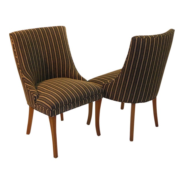 Sleek Tailored 40's Slipper Side Chairs - Image 1 of 10