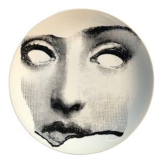 1980s Italian Piero Fornasetti Tema E Variazioni Plate #64, of Lina Cavalieri's Face For Sale