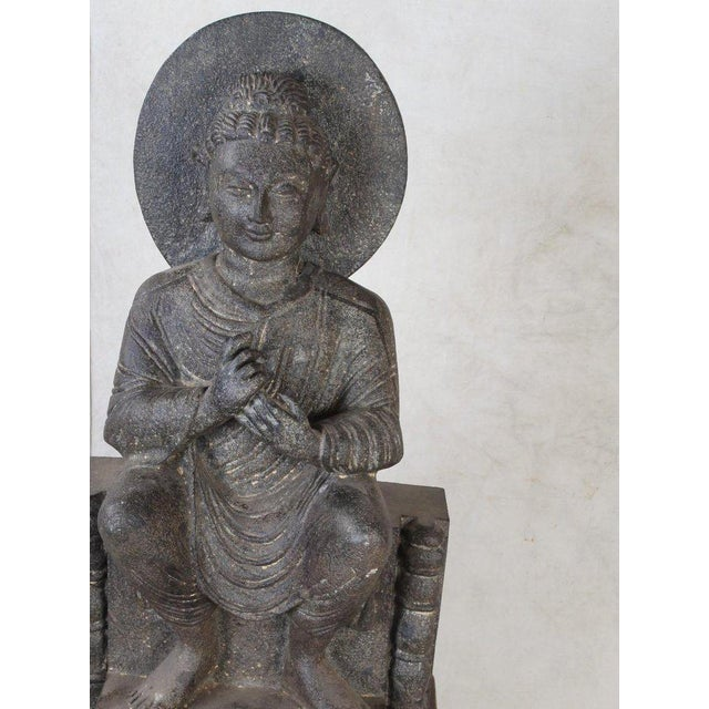 Gray Granite Sitting Buddha, India, Early 1900s For Sale - Image 8 of 10