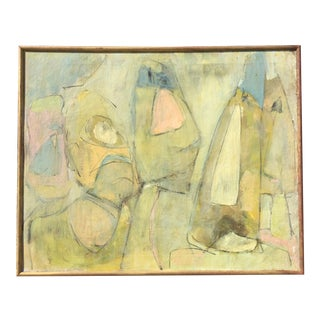 1965 Abstract Oil Painting on Canvas