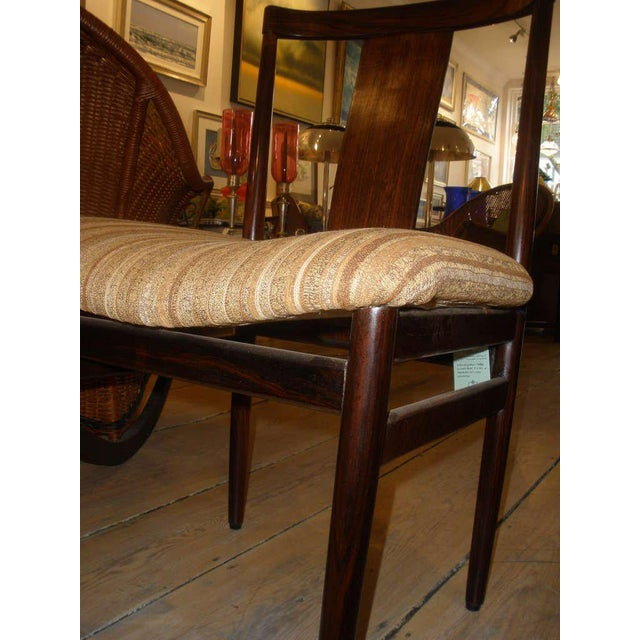 Rosewood Mid-Century Modern Side Chairs With Upholstered Seat - a Pair For Sale - Image 9 of 10