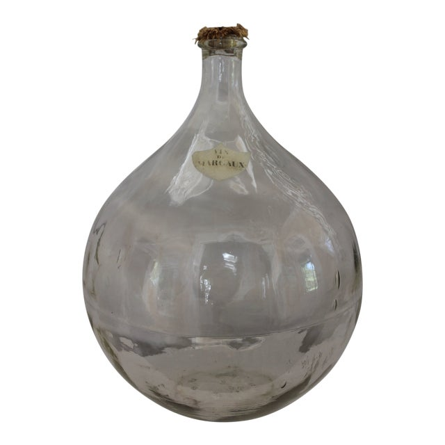 Antique Hand Blown Demi-John Bottle For Sale