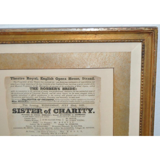 "Theatre Royal, English Opera House, Strand ""Sisters of Charity"" Flyer c.1920s For Sale - Image 5 of 8"