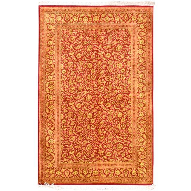 "Pasargad Qum Collection Silk Rug- 4' 3"" X 6' 8"" For Sale"
