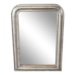 Late 19th Century Louis Philippe Silver Gilt Mirror For Sale