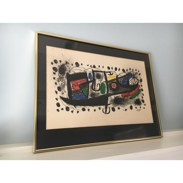 "Joan Miro Mid-Century ""Star Scene"" Signed Original Lithograph - Image 4 of 10"