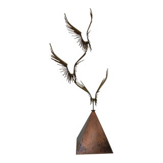 "Curtis Jere ""Birds in Flight"" Bronze & Copper Sculpture C.1976"