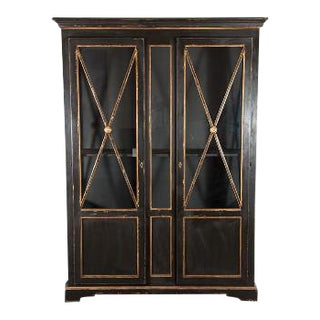 Directoire Style Provincial Polychrome Bookcase For Sale