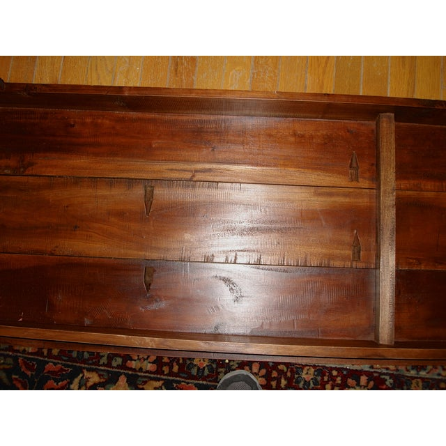 Handcrafted Antique Plank Top Sofa/Console Table - Image 5 of 10