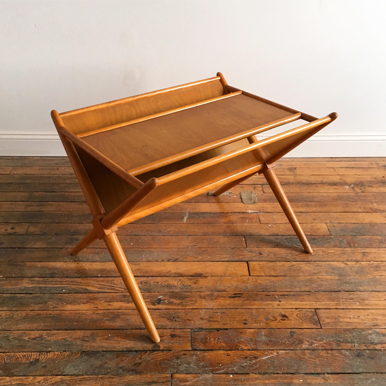 t.h. robsjohn gibbings for widdicomb magazine rack end table   chairish